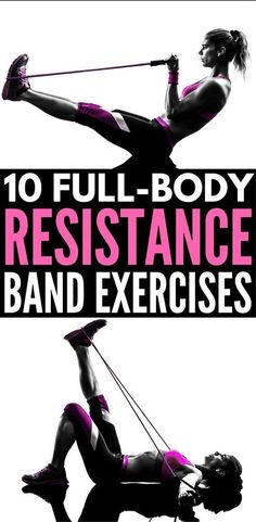 Full Body Workout with Resistance Bands: 10 Exercises to Tighten & Tone | Resistance band exercises offer a great all-in-one workout for glutes, for arms, for legs, for abs, for back, and for thighs that can be done anytime, anywhere. Perfect for weight loss and building muscle, we're sharing 10 workouts for beginners (and beyond!) to help you get back in shape from the comfort of your own home. #fullbodyworkout #resistancebands #resistancetraining #resistancebandexercise #weightloss