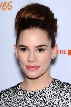 Celebrity huge bun hairstyles 2015