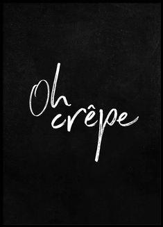 Oh crêpe Poster i gruppen Posters  / Storlekar / 30x40cm hos Desenio AB (2487)