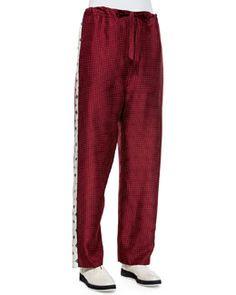 TA0WP Rag & Bone Rudy Drawstring Printed Pants