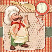 Pizza Chef - DIgital Stamp - $2.55 : Digital Stamps, Scrapbooking, Crafts, Artisan Resources, cardMaking, Paper Crafts, Digital Crafting by The Paper Shelter