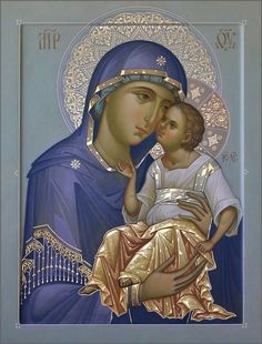 """""""""""Mary, Mother of the Author of life, Mother of the living, helps all humanity to appreciate more and more the great gift of life. Bless families and make them sanctuaries of welcome, respect and love for the life of the human being. Religious Pictures, Religious Icons, Religious Art, Church Icon, Religion Catolica, Russian Icons, Blessed Mother Mary, Byzantine Art, Mary And Jesus"""