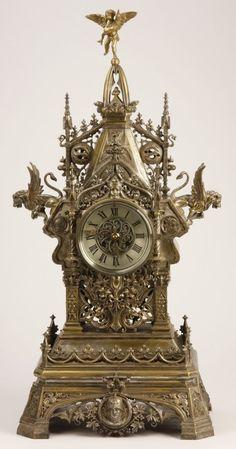 19th c. - bronze clock …