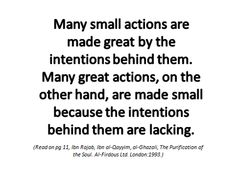 islamicrays: Many small actions are made great by the...