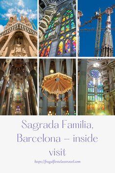 #VisitBarcelona #SagradaFamilia #Spain #Barcelona #architecture #stainedglass #Europetravelplanning Barcelona, Travel Advice, Things To Do, Europe, Frugal, Spain, Sagrada Familia, Things To Make, Sevilla Spain