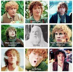 Hobbits really are amazing creatures. :) From Concerning Hobbits Facebook page.
