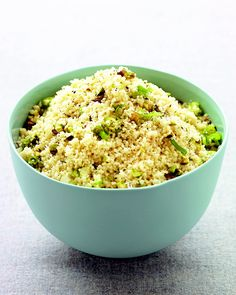 Chopped pistachios and sliced scallions flavor this versatile side dish.