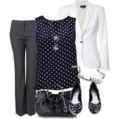 professional in polka dots by meganpearl on Polyvore #Women #Fashion