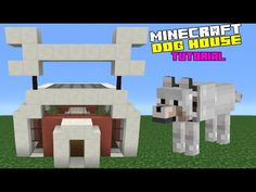 Minecraft Tutorial: How To Make A Dog House - YouTube