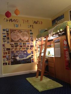 "my freshman dorm room ""choose the world you see"""