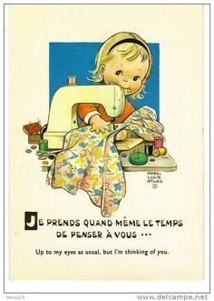 Mabel Lucie Attwell vintage postcard