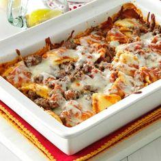 Ravioli Lasagna Recipe from Taste of Home -- shared by Patricia Smith of Asheboro, North Carolina