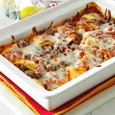Ravioli Lasagna Recipe from Taste of Home -- shared by Patricia Smith of Asheboro, North Carolina