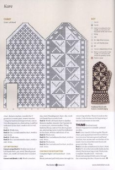 Жаккардовые узоры для варежек спицами (схемы) Knitted Mittens Pattern, Knit Mittens, Mitten Gloves, Knitted Hats, Knitting Charts, Knitting Patterns, Fair Isle Chart, Fair Isle Knitting, Filet Crochet