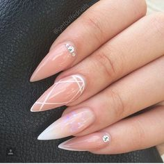 Pointy nails classy nail designs, nail treatment, almond nails, nails on fleek, Gorgeous Nails, Love Nails, Fun Nails, Gorgeous Lady, Classy Nail Designs, Nail Art Designs, Nails Design, Classy Nails, Trendy Nails