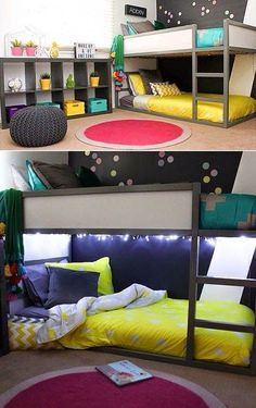 Black and white IKEA Kura beds Kids Room Design beds IKEA Kura black and . - Kids Room Design - Home end Kura Ikea, Ikea Ps, Small Room Design, Kids Room Design, Nursery Design, Cool Kids Rooms, Small Kids Rooms, Bunk Bed Ideas For Small Rooms, Kids Bunk Beds