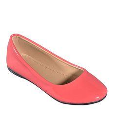 Loving this STEVEN ELLA INC Coral Patent Ballet Flat on #zulily! #zulilyfinds