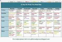 21 Day Fix - Chalean Extreme Hybrid Meal Plan