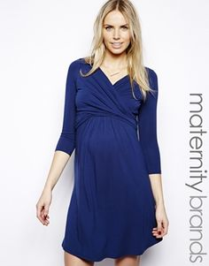 Isabella Oliver Wrap Front Jersey Dress