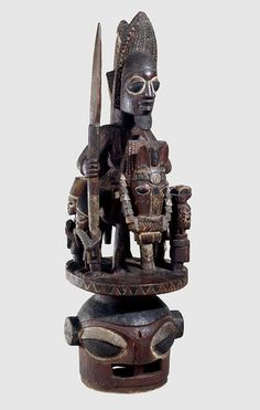 Nigeria - Yoruba Epa Headdress (British Museum). Probably late 19th century. Possibly carved by Bamgose of Osi-Ilorin.