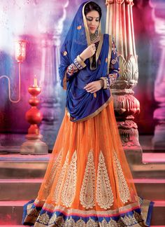 EXOTIC SELLERS!!  Decent Net Blue And Orange Patch Border Work Lehenga Choli  Product Order linkhttp://www.usarees.com/lehenga-choli/decent-net-blue-and-orange-patch-border-work-lehenga-choli-3192  ITEM CODE: 3192  Color :Blue Orange Fabric :Net Work :Embroidered Patch Border Occasion :Festival Reception  Call or Whatsapp : +919377152141 SHOP NOW!!