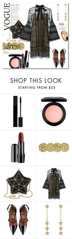 """Get the look"" by vkmd ❤ liked on Polyvore featuring Gucci, MAC Cosmetics, Lancôme, Kate Spade, Aspinal of London, Carolina Herrera, RED Valentino, Jennifer Meyer Jewelry, Hermès and longsleeve"