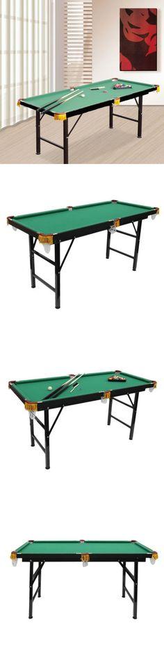 Other Billiards 1292: 55 Mini Foldable Pool Table Portable Billiard Table  Full Set W Balls