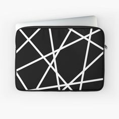 Black and white abstract pattern laptop case for minimal lovers Minimal Style, Minimal Fashion, Iphone Wallet, Iphone Cases, Black And White Abstract, Line Patterns, Sleeve Designs, Back To Black, Laptop Case