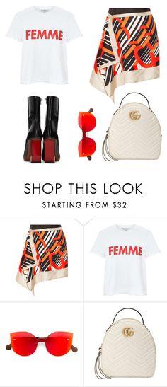 """Femme"" by zeynepkartal on Polyvore featuring moda, Carven, Miss Selfridge, RetroSuperFuture, Gucci ve Vetements"