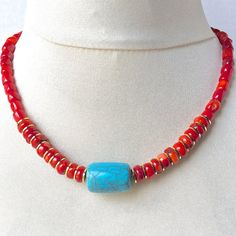 $19.00.  There's only ONE Coral and Turquoise Coastal Necklace.