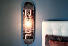 Repurposed Skateboard lamp