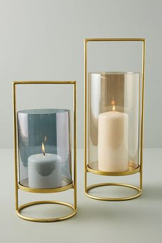 Geometry hurricane candle holders from Anthropologie - gold metal and glass / beautiful home decor accessories / accents / bedroom decor / housewarming gift ideas / gifts for her / gifts for mom / Hurricane Candle Holders, Candle Stand, Home Decor Accessories, Decorative Accessories, Garden Accessories, Living Room Accessories, Bridal Accessories, Decorative Pillows, Decorative Boxes