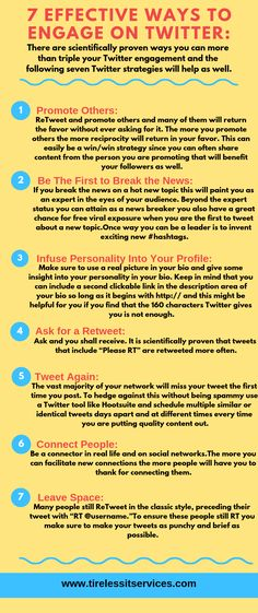 7 Effective Ways to Engage on Twitter. #twitter #engage #connectpeople #promote #business #strategy #marketingagency Internet Marketing Company, Twitter Twitter, Competitor Analysis, Promotion, Business, Amazing, Inspiration, Internet Marketing Firm, Biblical Inspiration