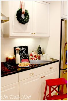 Merry And Bright Kitchen/ Milk & cookies/ hot chocolate station The Daily Nest