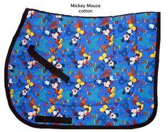 """BLUE MICKEY MOUSE ""DISNEY ENGLISH JUMPING SADDLE PAD CUTE DESIGNER NUMNAH #CloseContactAllPurpose #SADDLEPAD Disney English, Saddle Pads, Mickey Mouse, Pony, Horse Stuff, Daddy, Horses, English English, Cute"