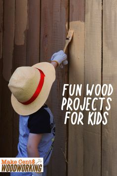 Expose your kid to the joys and possibilities of woodworking by introducing him to these fun wood projects for children. Wood Projects That Sell, Woodworking Projects That Sell, Diy Wood Projects, Teds Woodworking, Woodworking Crafts, Wood Crafts, Diy And Crafts, Wood Plans, Diy Gifts