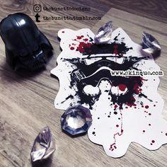 Star wars stormtrooper trash polka tattoo illustration