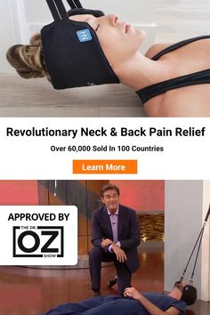 """Oz calls it """"one of the best health finds of If You Have 10 Minu… Dr. Oz calls it """"one of the best health finds of If You Have 10 Minutes, You Have Time To Relieve Your Neck Pain. Learn more today. Health Tips, Health And Wellness, Health Fitness, Neck Exercises, Neck Pain Relief, Salud Natural, Neck And Back Pain, Massage Therapy, Get In Shape"""