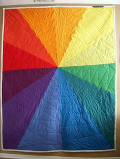 My color wheel quilt!! By Kelly A. Fox.