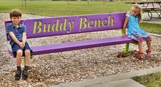Buddy Bench - The Buddy Bench is a simple idea to eliminate possibilities of loneliness and foster friendship on the playground. Set up your Buddy Bench in an area where your young ones can seek companionship from other friends. Encourage group play and friendships with the Buddy Bench! The Xccent™ Buddy Bench is available in a multitude of colors and frames to meet your playground needs. It's crafted with durable PVC coating with UV protection for a longer lasting appearance while allowing…