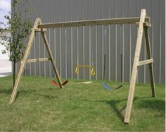Wooden-swing-set not linked to good site but good pic to build from