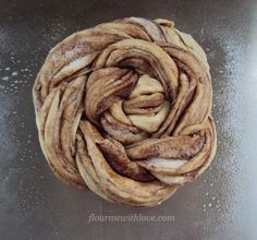 Estonian Kringle...a simple yeast dough braided with cinnamon & sugar and rolled into a beautiful loaf. #yeast #bread #cinnamon #breakfast