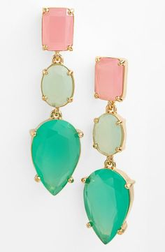 Love the pastel gems on these Kate Spade earrings.
