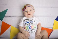 Rainbow Baby Bodysuit After Every Storm Bodysuit Girls