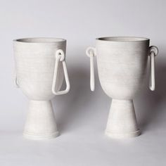 With a focus on hand-crafted ceramic objects, Eric Roinestad produces unique sculptural objects, home accessories, furni Porcelain Ceramics, Ceramic Vase, Ceramic Pottery, Pottery Art, China Porcelain, Painted Porcelain, Slab Pottery, Ceramics Tile, Porcelain Tiles