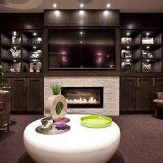 Off Center Fireplace Design Ideas, Pictures, Remodel, and Decor - page 11