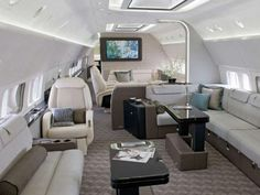 Traveling in style. Probably reserved for royal families from the Middle East.
