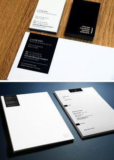 Entête de lettre, carte de visite, dossier tribunal et carte de correspondance pour avocat - communication institutionnelle