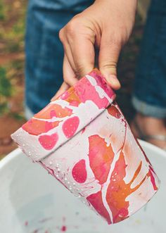 Marbled planters in Crafts for decorating and home decor, parties and events