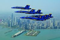 The Blue Angels! The Chicago Air & Water Show is a classic summer event in the Windy City